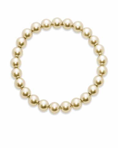 CLEARANCE: Sydney Cream Glass Pearl Bracelet By David Tutera