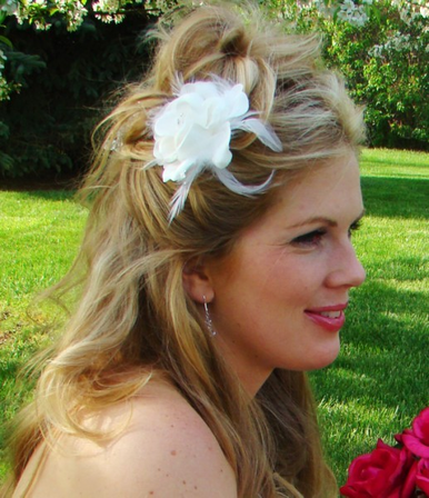Feather and Floral Hair Fascinator - Bridal Fascinator