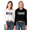 Bride and Bride's Squad Cropped Hoodie