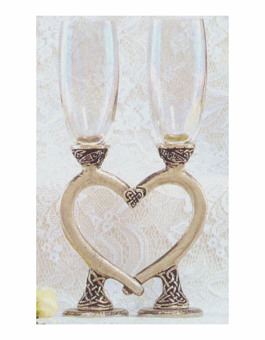 Smooth Celtic Heart Goblet Set