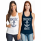 Nautical Bridal Party T-Shirts with Anchor Design
