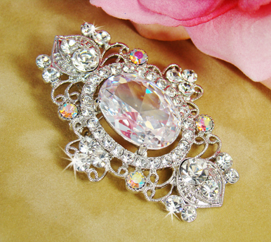 CLEARANCE: Stunning Crystal Brooch with AB Accents - Last One!