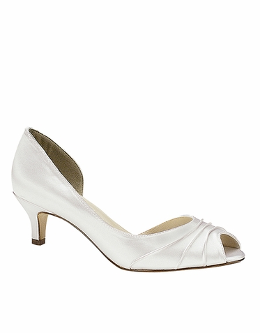 CLEARANCE: Abby by Touch Ups Dyeable Satin Wedding Pumps Size 5M