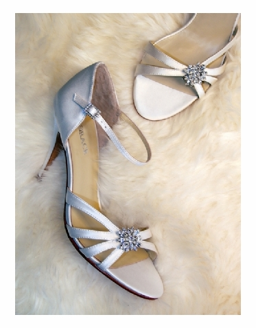 CLEARANCE SALE! Crystal Silk Bridal Shoes by Grace Footwear