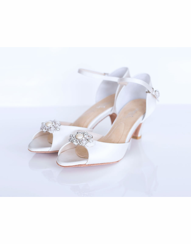 "Angela Nuran Astoria Shoe with Astoria Brooch - 2.25"" Heel"