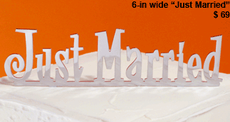 CLEARANCE: Just Married Wedding Cake Topper - Last One!