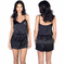 Satin Romper with Embroidered Initial