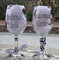 Personalized Bridesmaid Wine Glass with Optional Polka Dots