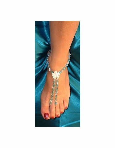 Enchanting Blue And Green Barefoot Sandals