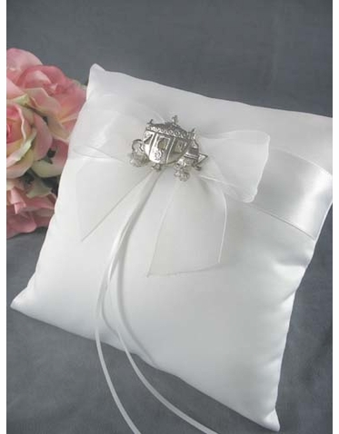 CLEARANCE: Cinderella Ring Bearer Pillow Ivory