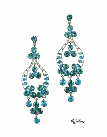 Swarovski Crystal Chandelier Earrings In A Luxurious Array Of Colors