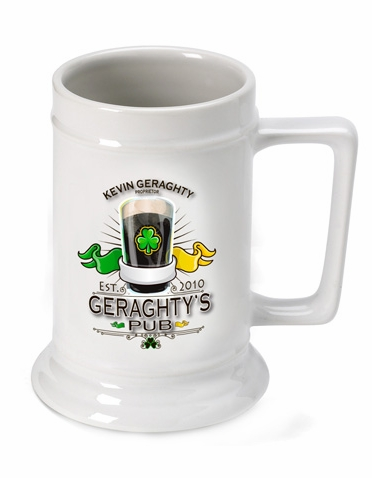 Personalized Irish Pub Beer Stein