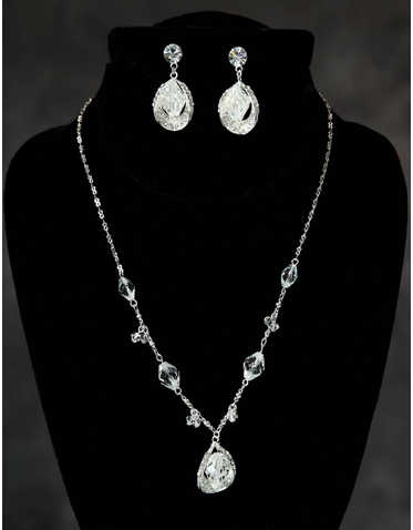 Teardrop Crystals Wedding Jewelry Set 6009EN