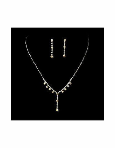 CLEARANCE: Crystal Rhinestone Drop Jewelry Set