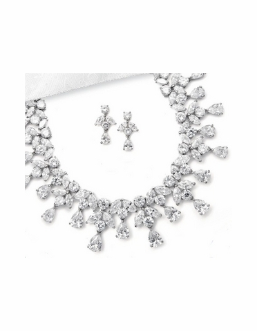 CZ Necklace and Earring Set - S151