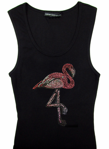Custom Flamingo Tank Top or T-Shirt