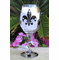 Personalized Fleur de Lis Wine Glasses