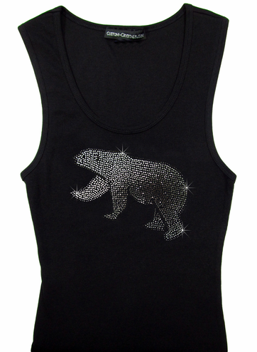 Custom Crystal Polar Bear Tank Top or T-Shirt