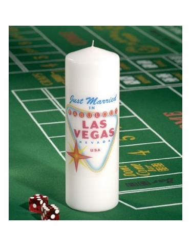 CLEARANCE: Las Vegas Wedding Pillar Unity Candle