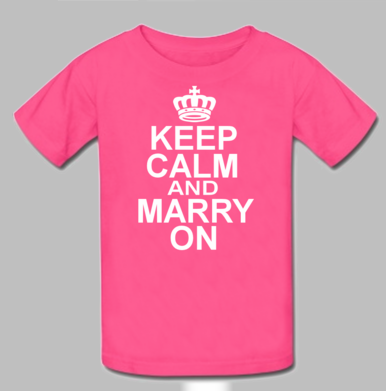 Keep Calm and Marry on Bride T-Shirt - Keep Calm Series