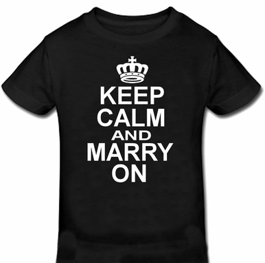 Keep Calm and Marry On Groom T-Shirt - Groom Tee Shirt