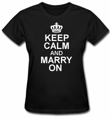 Keep Calm and Marry On Bride Tee Shirt - Keep Calm and Marry On Collection