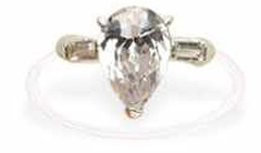 CLEARANCE: Jessica Big CZ Crystal Toe Ring