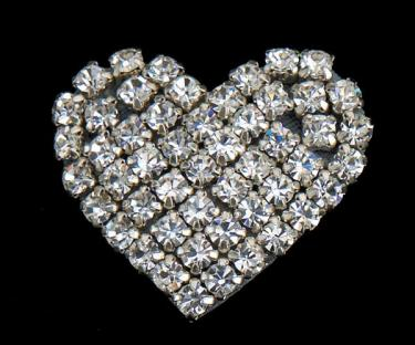 CLEARANCE: Rhinestone Heart Shoe Clips - Last Set!