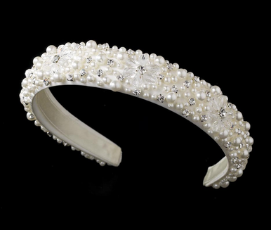 Pearl, Crystal and Rhinestone Headband - Bridal Headband