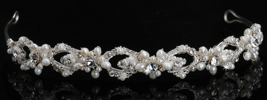 En Vogue Bridal Crystal & Pearl Tiara 813
