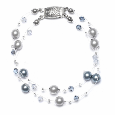 Custom Two-Tone Pearl Bracelet Available In 26 Gorgeous Colors