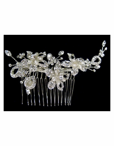 Pearl and Rhinestone Bridal Headpiece