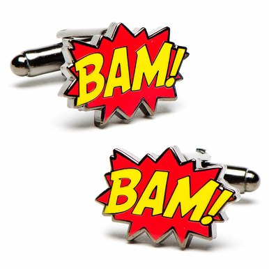"Officially Licensed Batman ""BAM!"" Cufflinks"