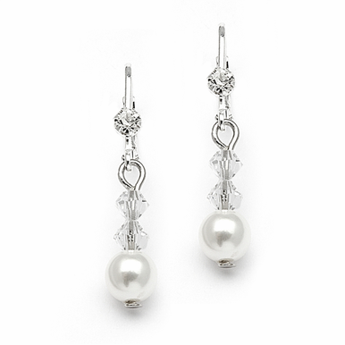 Custom Pearl And Crystal Drop Earrings In 26 Gorgeous Colors