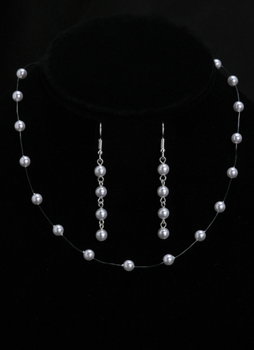 En Vogue Bridal Necklace & Earring Set NL855