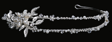 En Vogue Bridal Crystal & Pearl Tiara 1032