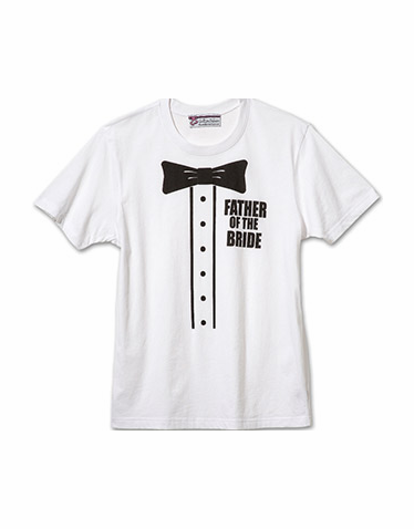 Father of the Bride Printed Tuxedo Tee