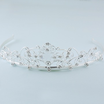 Silver Plated Austrian Crystal Tiara