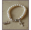 First Communion Bracelet - Sterling Cross and Freshwater Pearls