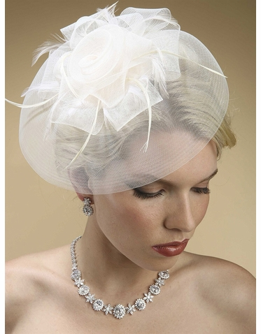 Enchanting Statement Hat With Feather Adorned Rosette