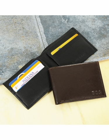 Black Bi-Fold Wallet with Initials