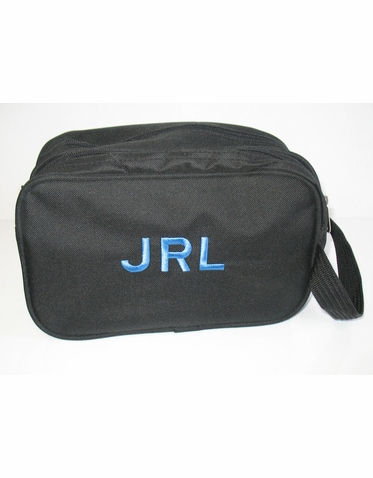 Personalized Toiletry Bag with Two Zippered Compartments