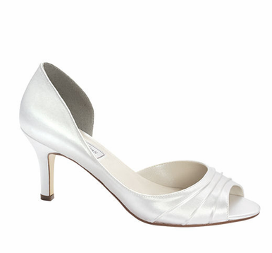 CLEARANCE: Nadia Dyeable Peeptoe Bridal Shoes by Touch Ups