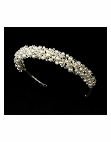 Pearl and Crystal Bridal Headband - HP8308