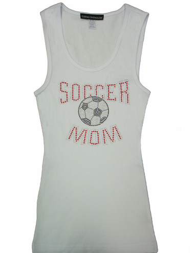Rhinestone Soccer Mom Tank or T-Shirt with Nailheads