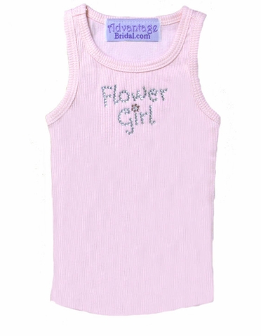 Flower Girl Rhinestone Tank - Flower Girl Tank Top