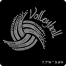 Sparkling Rhinestone Volleyball Swirl Tee Tank or Tote