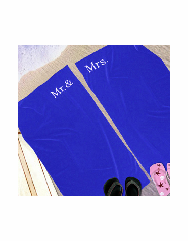 Mr. and Mrs. Beach Towels - Personalized Beach Towels