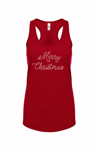 Merry Christmas Crystal Tee or Tank