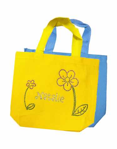 Flower Girl Personalized Rhinestone Tote